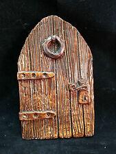 Large fairy door, 15cm , brown glazed finish, fae, faeries, fairies, magic