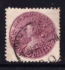 AUSTRALIA NEW SOUTH WALES 1888 5/- rose-lilac - p11 - fine used SG181. Cat £140