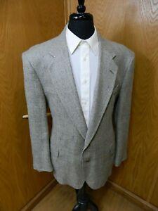 Mens Blazer Sport coat Jacket Norm Thompson 46r Multi color weave Silk Bld S#137