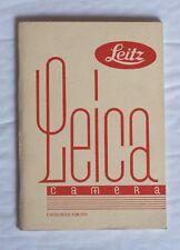 Leica Camera Accessory Catalogue 1931, Reprint