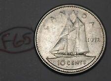 Canada 1972 10 cents Elizabeth II Canadian Dime Lot #F65