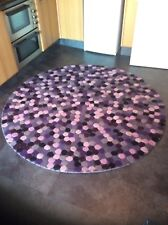 CIRCULAR RUG  6FT. DIAM.TOP QUALITY,  TEXTURED, THICK, WOOL, ...FREE DEL.