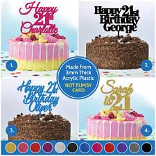 21st Birthday Cake Topper PERSONALISED Cake Decoration Twenty First 21 Custom