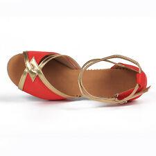 4-color Ballroom new heeled Salsa tango latin dance shoes ladies girls women-807