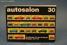 Autosalon in Buchform Nr. 30 Alle Modelle von 1977 / 78 Auto Katalog