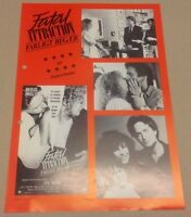 """Fatal Attraction"" Michael Douglas Close Vtg 1987 Danish Movie Press Release Kit"