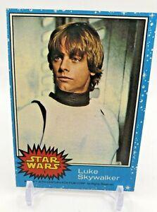 Luke Skywalker Rookie Card - 1977 Topps Star Wars card #1  - Mark Hamill