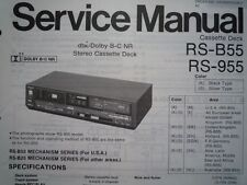 TECHNICS RS-B55 RS-955 Cassette Deck Service manual wiring parts diagram RS-B25