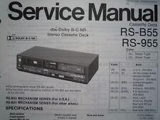 TECHNICS RS-B55 RS-955 REGISTRATORE A CASSETTE MANUALE SERVIZIO diagramma di cablaggio parti RS-B25