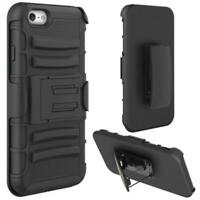 DROP-PROOF HOLSTER CASE HYBRID COVER SWIVEL BELT CLIP for iPhone 6 / 6S Phones