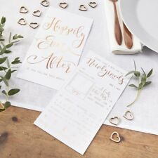Rose Gold Foiled Advice for the Newlyweds Cards Wedding Wishes Advice Cards x 10