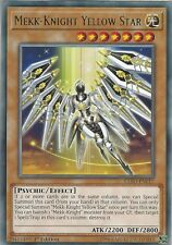 YU-GI-OH CARD: MEKK-KNIGHT YELLOW STAR - RARE - EXFO-EN017 1ST EDITION