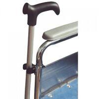 Walking Stick Clip Holder for Wheelchair or Rollator Walker Aid