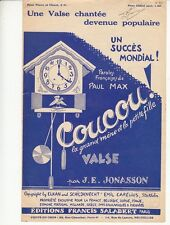 PARTITION J.E JONASSON *COUCOU* (HORLOGE)