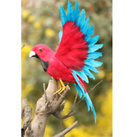 Fake Artificial Bird Parrot Realistic Imitation Home Garden Decor 17cm #9