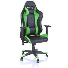 TRESKO® Sedia da ufficio Poltrona ufficio Versione Racer Gaming Verde chiaro