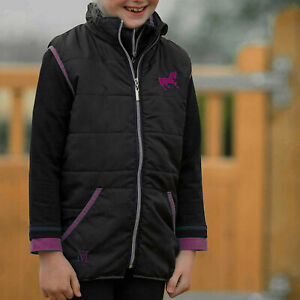 Mark Todd Toddy Childs/Kids Quilted Gilet Navy/Purple Medium (8-9 years)