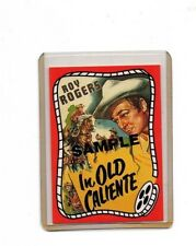 Roy Rogers Promo / Advertisment Old Caliente Sample Card