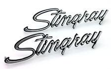 NEW Stingray Front Fender Emblem Script PAIR / For 1969-1973 Corvette USA-MADE