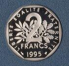 TOP RARE MONNAIE DE 2 FRANCS SEMEUSE NICKEL BELLE EPREUVE 1995 FDC @ BE @ RARE