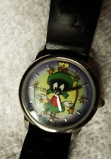 """Armitron Quartz Marvin the Martian Watch Leather Band, """"Shooting Stars"""""""