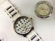 Grinder Watch In White-For Grinding Tobacco Bling-