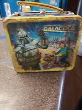 Battlestar Galactica Vintage Lunch Box thermos inside. read! Very poor