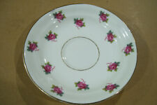 Vintage Sampson Smith Old Royal Bone China England Saucer Only No Cup Pink Roses