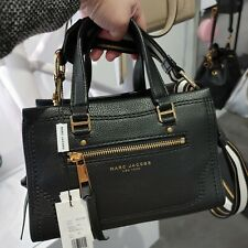 Authentic Marc Jacobs Mini Cruiser Leather Satchel Black M0015022