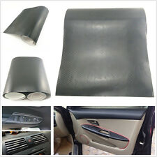 38cm X 100cm Black Carbon Fiber Auto Interior Outlet Vinyl Film Sheet For Holden