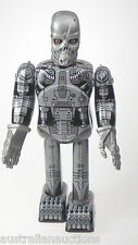 TERMINATOR SKELETON ROBOT CYBER CYBORG ROBOT TIN TOY STEEL CLOCKWORK