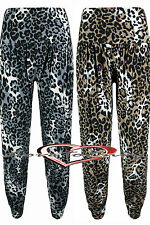 Ladies Animal Print Hareem Loose Keep Fit Dance Baggy Pants In 4 Sizes