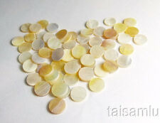 Yellow Abalone Inlay Material 60 pieces Dots 7mm VY-07