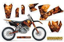 KTM 03-04 EXC XC 01-02 SX 125/250/450/525/520 GRAPHICS KIT CREATORX INFERNO
