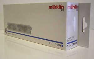 24188 MARKLIN HO 10 Straight C-Tracks - 1 box - NEW
