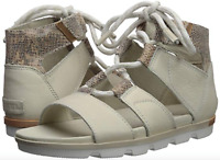 Sorel Torpeda Lace II Sandal Women's size 11 Sea Salt/Fawn Leather Gladiators