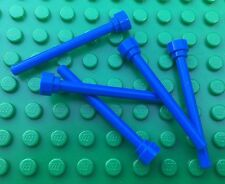 Lego City Town BLUE FLAG POLES QTY5 Space Antenna