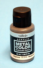 Vallejo Acrylic MAGNESIUM METAL COLOR 77.711 Airbrush Colors Hobby Paint 32ml