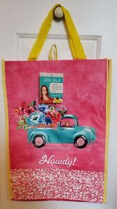 PIONEER WOMAN 2 REUSABLE SHOPPING BAG HOWDY TRUCK  NEW