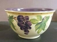 "Tabletops Unlimited Provincial Grapes Melamine 6"" Cereal Bowl light scratching"