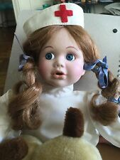 Vintage Veterinary Nurse Doll With Dog