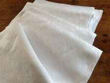 Vintage White Damask linen Tablecloth Flowers and Leaves Buffet Wedding Venue