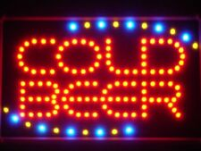 led004-r COLD BEER Bar OPEN LED Neon Light Sign