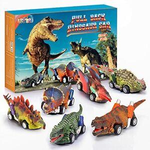 Stfitoh Dinosaure Jouet 6 Packs- Voiture de Dinosaure Cadeaux et Jouets pour Enf