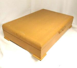 Vintage Tarnish Resistant Wood Silverware Flatware Wooden Storage Chest Box 86