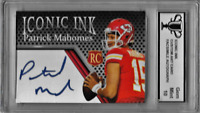 Patrick Mahomes Iconic Ink Graded Custom Art Card with Facsimile Autograph
