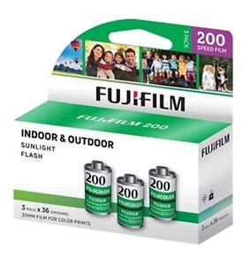 3 Rolls - FUJI Fujifilm Fujicolor 200 ISO Color Negative 35mm Film 36exp 135-36