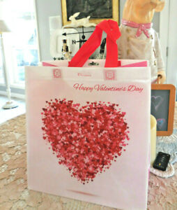 ❤️ VALENTINE'S DAY pink & red hearts  Reusable Shopping Tote Bag ❤️