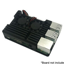 Aluminum Radiator Protection Case For Raspberry Pi 3B+ 3B 2B Metal Cooling SS