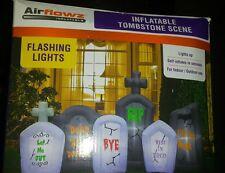 Halloween inflatable tombstone new 8 feet long halloween tombstone